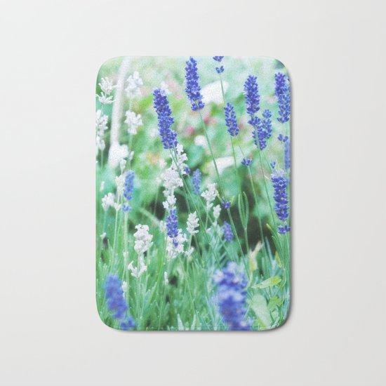 White & Blue Lavender Dream #1 #art #society6 Bath Mat