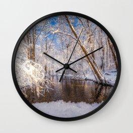 Wintertime Wall Clock