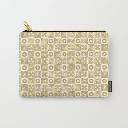 Lines and Shapes - Sunflower Carry-All Pouch