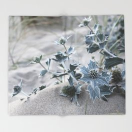beach thistle Throw Blanket