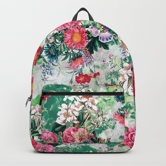 Leopards and Flowers Backpack