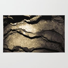 Brown Upstate New York Cave Art Rug