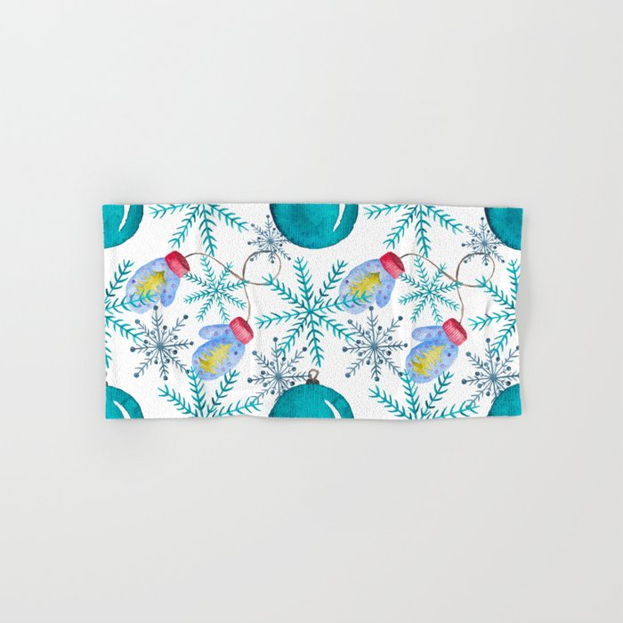 Blue Snowflakes #3 Hand & Bath Towel