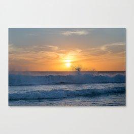 When the Sea meets the Sun Canvas Print