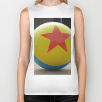 toy story Biker Tanks featuring Toy Story Ball by Jillian