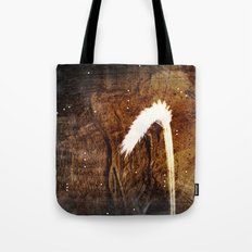 Glowing grass in starry cave Tote Bag