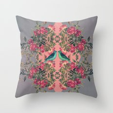 Love Birds II Throw Pillow