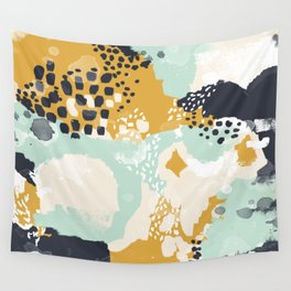 Tinsley - Abstract painting in bold, modern, bright colors Wall Tapestry