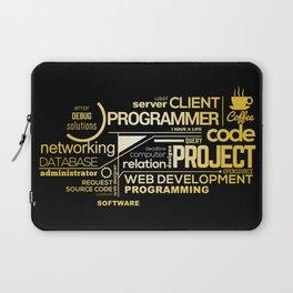 Typography programming Laptop Sleeve