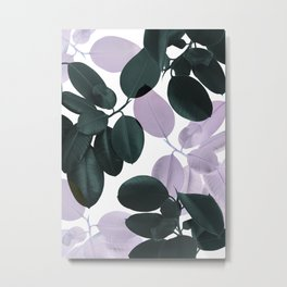 Ficus Leaves Glam #1 #tropical #decor #art #society6 Metal Print