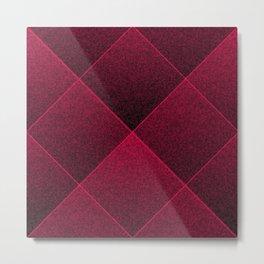 Plush Ruby Red Diamond Metal Print
