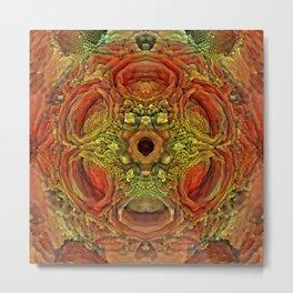 Moldy Holes Pattern Metal Print