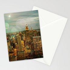 NYC Skyline Lights Stationery Cards