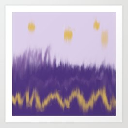 Purple and Gold Abstract Art Print