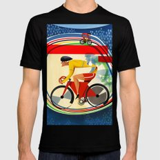 Track Cycling Championship Poster Cycle Bike Mens Fitted Tee X-LARGE Black