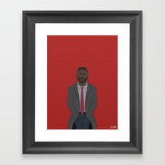 DCI Luther Framed Art Print