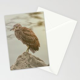 Young Heron II Stationery Cards