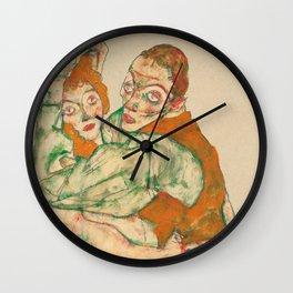 "Egon Schiele ""Lovemaking"" Wall Clock"
