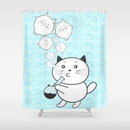 Smoke Cat not War Shower Curtain