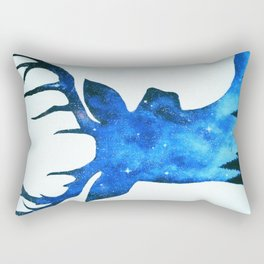 Spirit Deer // Space Antlers // Galaxy Stag // Double Exposure Deer Rectangular Pillow