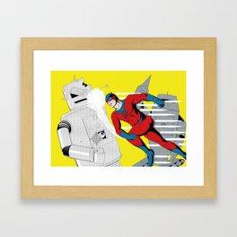 Speed Demon vs The Mechanical Menace Framed Art Print