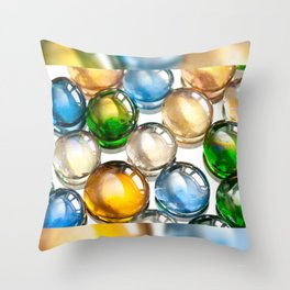 Glass balls marbles abstract Throw Pillow