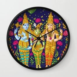 Madurai Meenakshi Sundareshwar Wall Clock