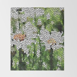 Garden Mosaic Design Throw Blanket
