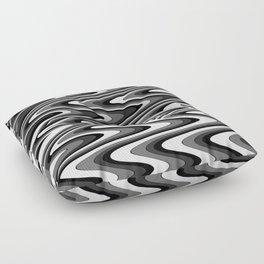 Monochromatic black white slur Floor Pillow