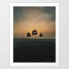 3 Trees Art Print
