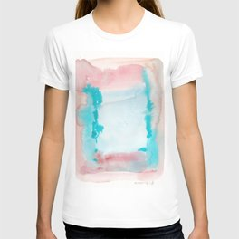 180815 Watercolor Rothko Inspired 9| Colorful Abstract | Modern Watercolor Art T-shirt