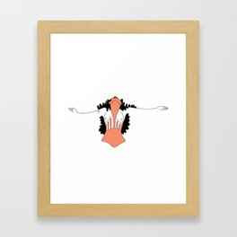 What you feel when you are free Framed Art Print