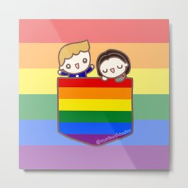 Pocket stucky rainbow Metal Print