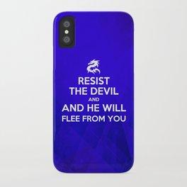 Resist the Devil - Bible Lock Screens iPhone Case