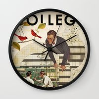 college Wall Clocks featuring Welcome to... College by Heather Landis