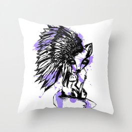 fox spirt  Throw Pillow