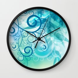 Remolino floral Wall Clock