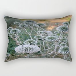 Seed Head Of Leek Flower Allium Sphaerocephalon  Rectangular Pillow