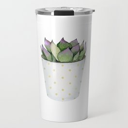 Succulent in a pot. Travel Mug