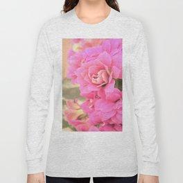 peach colored flower Long Sleeve T-shirt