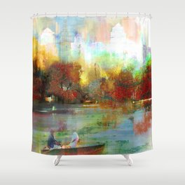 Afternoon autumnal in Central Park Shower Curtain