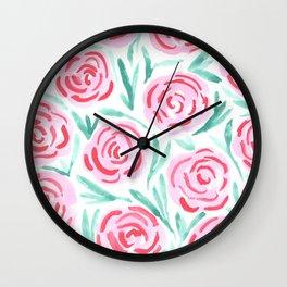 Rose Buds Wall Clock