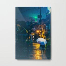Euljiro in the rain Metal Print