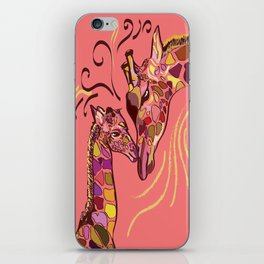 Giraffe Love iPhone Skin