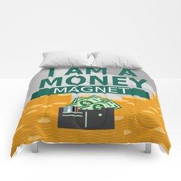 Positive Affirmation I am a money magnet Comforters