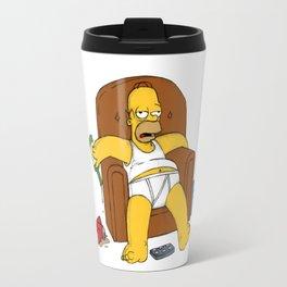 simpson in sofa Travel Mug