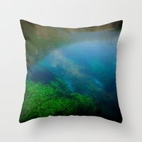 underwater Throw Pillows featuring underwater by habish