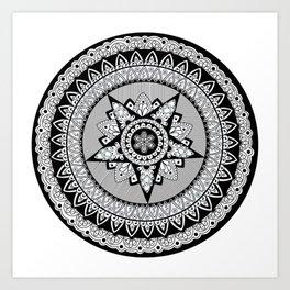 Captain's Shield Mandala Art Print