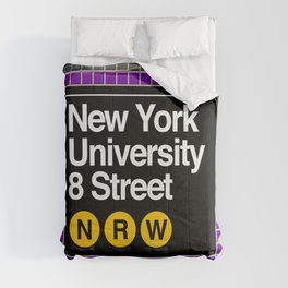 subway nyu sign Comforters