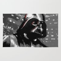 darth vader Area & Throw Rugs featuring Darth Vader by Berta Merlotte